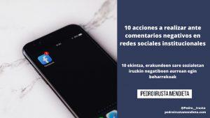 10 ekintza, erakundeen sare sozialetako iruzkin negatiboen aurrean egin beharrekoak