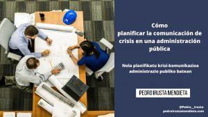 Comunicación de crisis en una administración pública