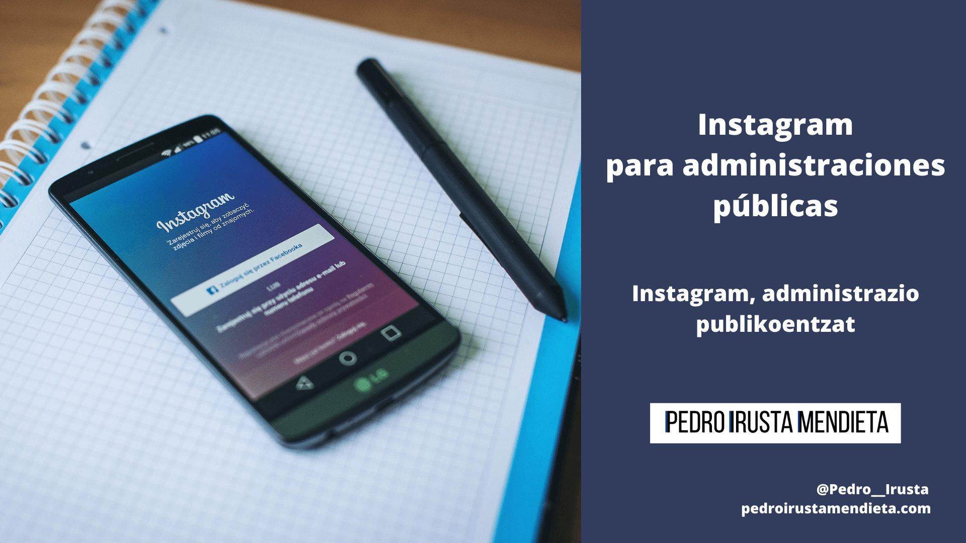 Instagram para administraciones públicas