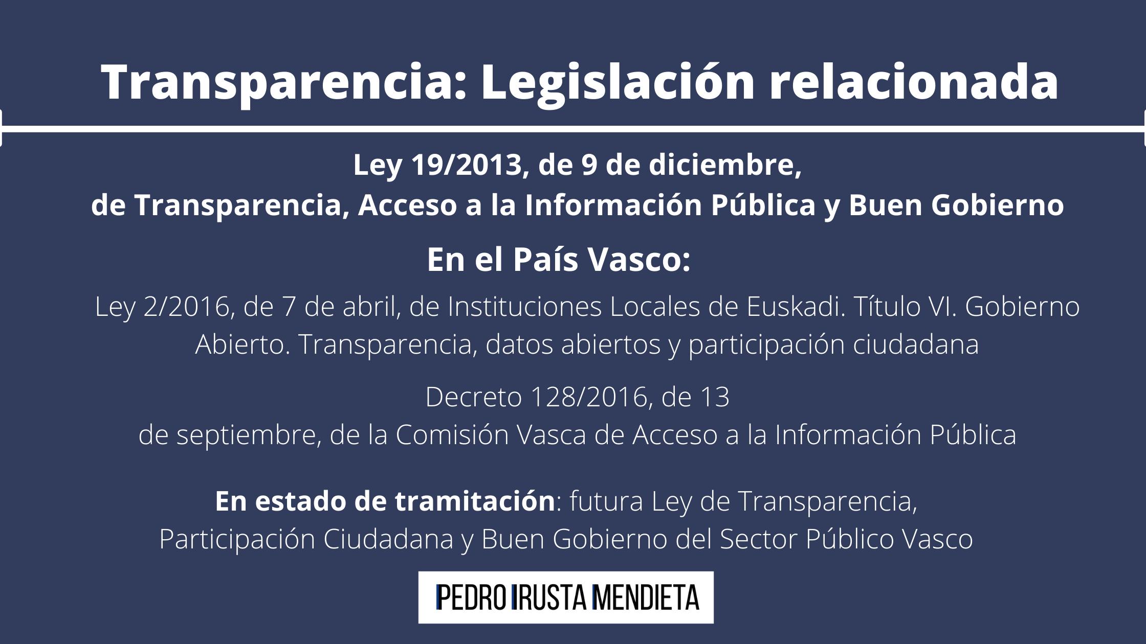 Transparencia_ Legislación relacionada