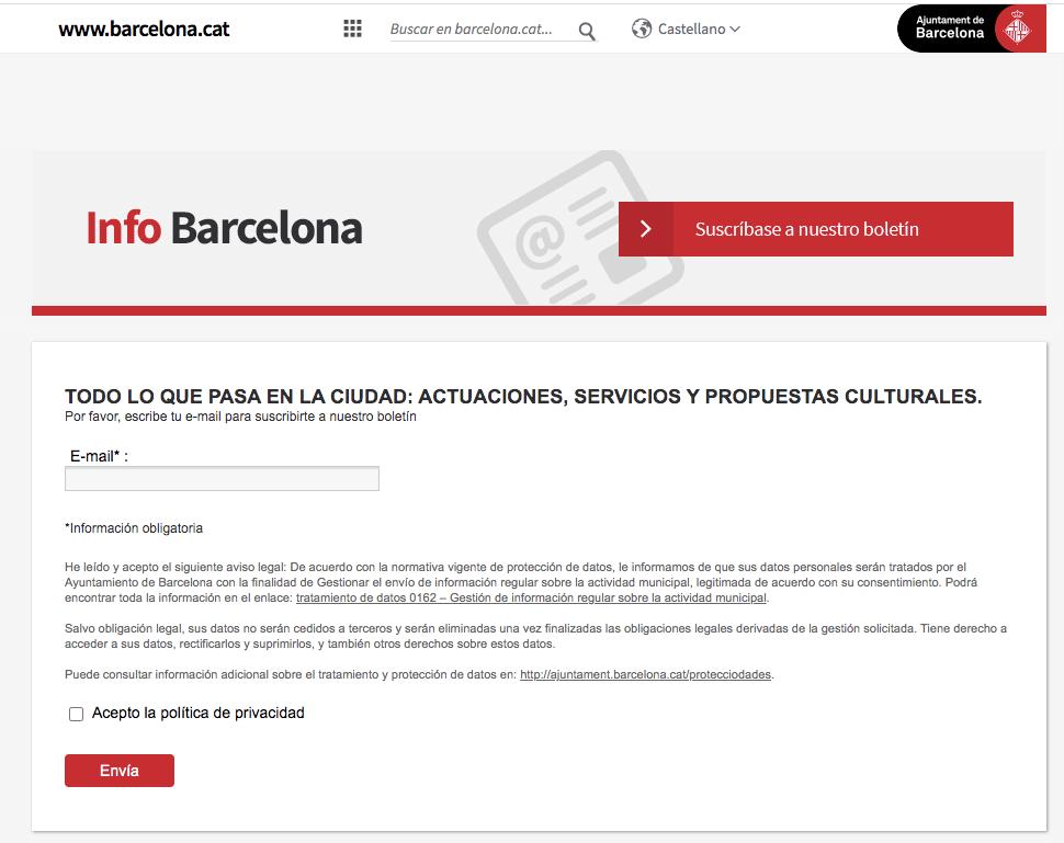 Email Marketing - Ayuntamiento de Barcelona