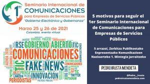 5 motivos para seguir el 1er Seminario Internacional de Comunicaciones para Empresas de Servicios Públicos